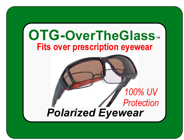 OTG Over-The-Glasses Polarized Gray Lens Ventilated Black sideview frame - multiple sizes available