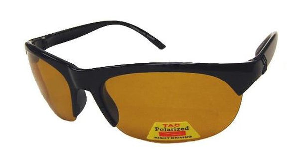 FLY-DEF High-Definition Polarized Fishing sunglasses Gold Lens Semi-Rimless Sports Wrap SM-MD