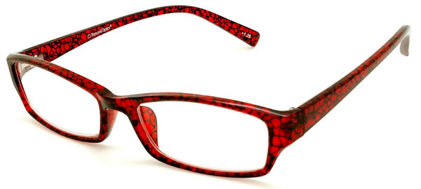 Personal Optics Half-eye Red lace patterrn