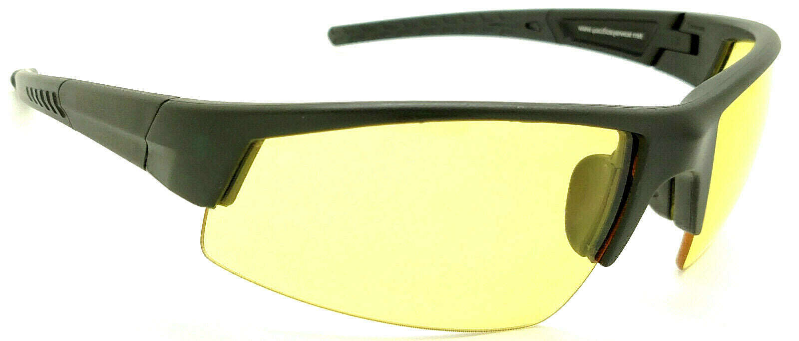 Shooter's Edge Z87.1 Safety Shooting Glasses Contrast Yellow lens Black frame