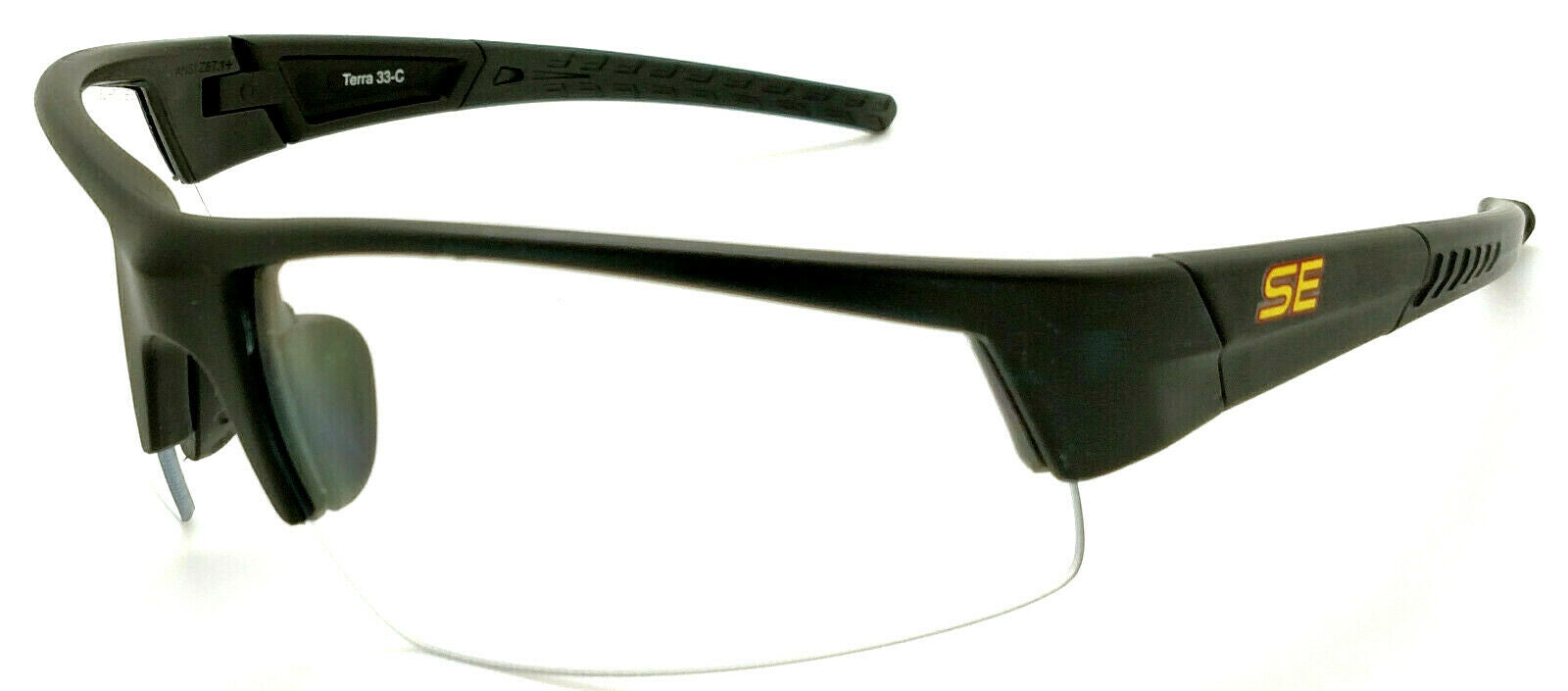 Shooter's Edge Terra II Z87.1 Safety Shooting Glasses Clear lens Matte Black