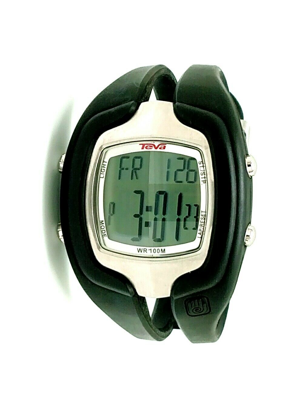Teva Digital Sport Watch Vintage 45mm Silver and Black Perfect condition