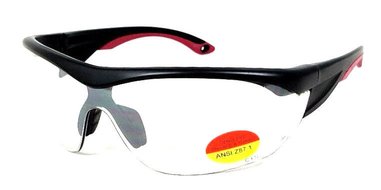 Shooter's Edge ANSI-Z87.1 Safety Shooting Glasses Clear Lens Semi-Rimless