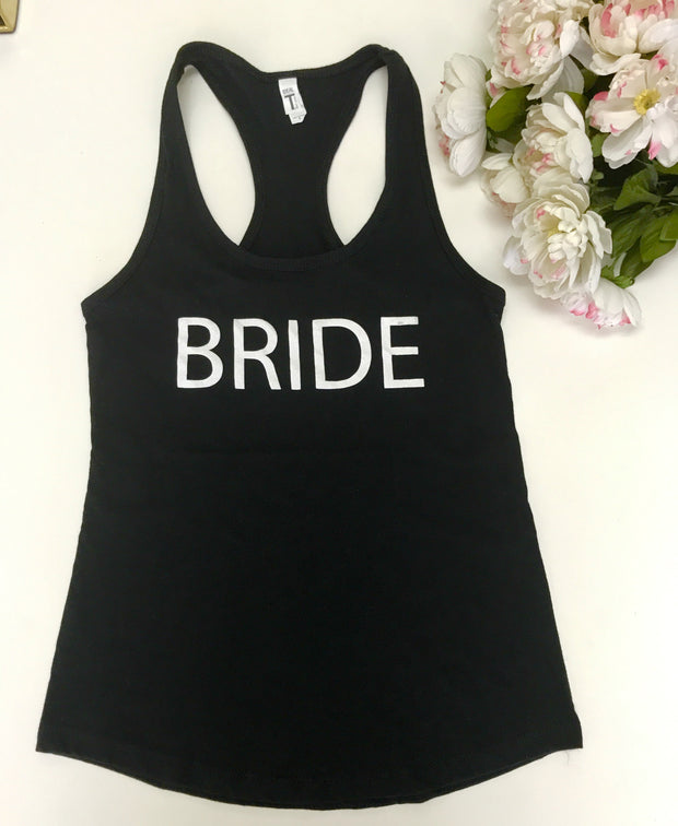 Bride Tank Top Shirt,   Bridal Party Shirt,  Bachlorette Shirt