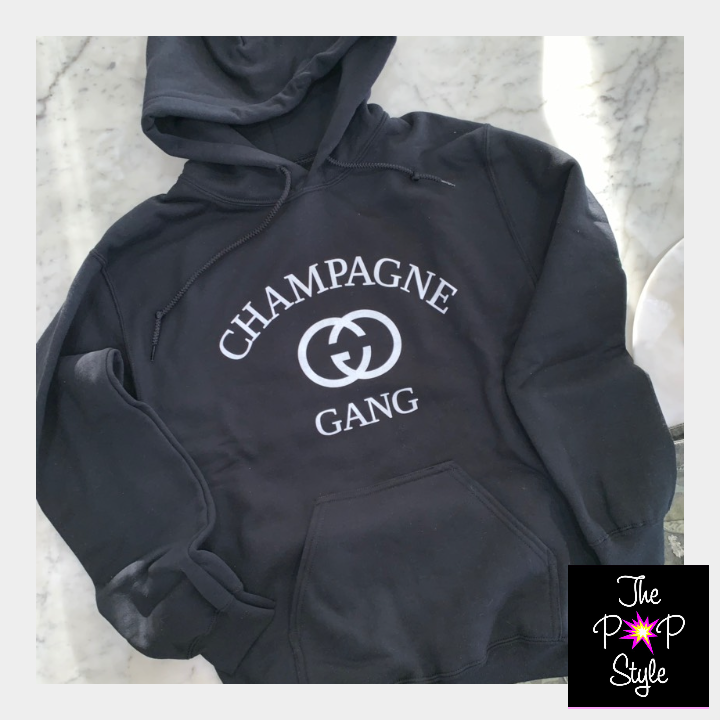 Champagne Gang Ravishing Red Hoodie for Girls Brunch