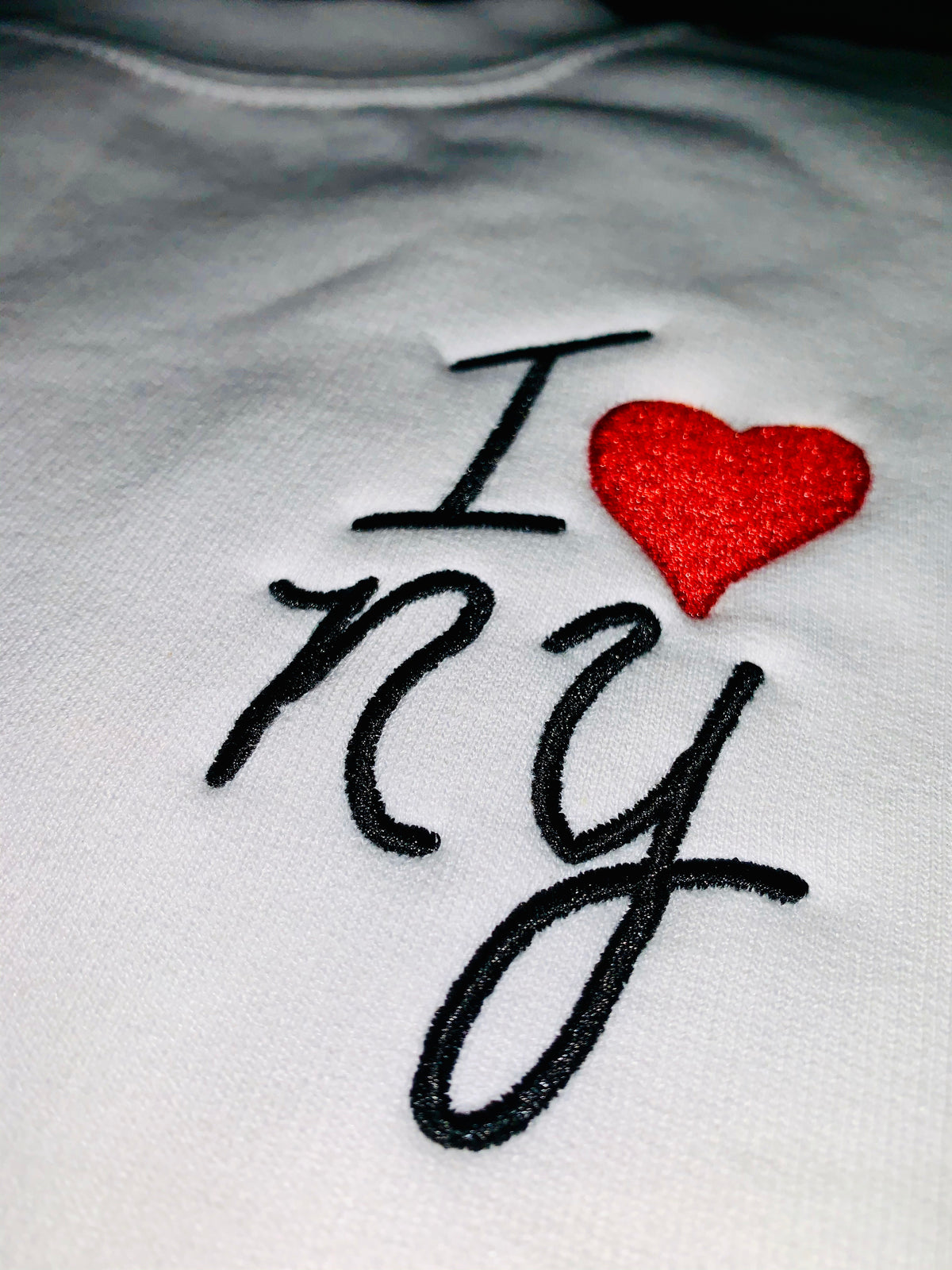 I Love New York Embroidered Sweatshirt Benefitting ROAR NY, Destination Shirt
