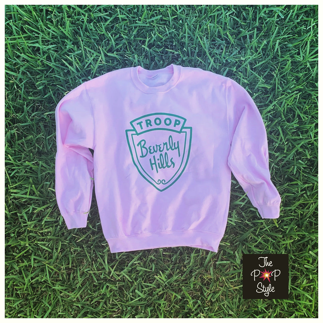 Pink Troop Beverly Hills Sweatshirt, We Don't Need Your Patches Shirt , 80's Movie