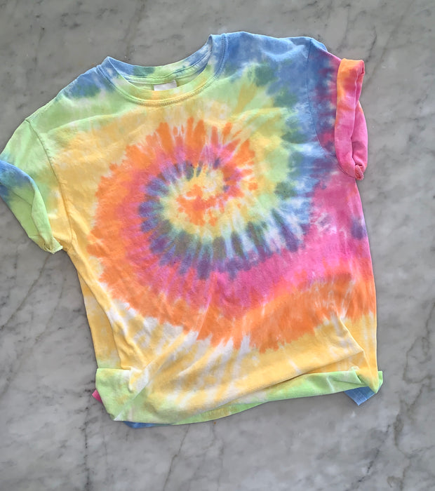 Pastel Ice Cream Tie Dye Rainbow Tie Dye Shirt