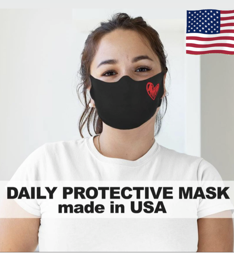 Reusable Face Mask, cotton face mask, face shield Made in USA