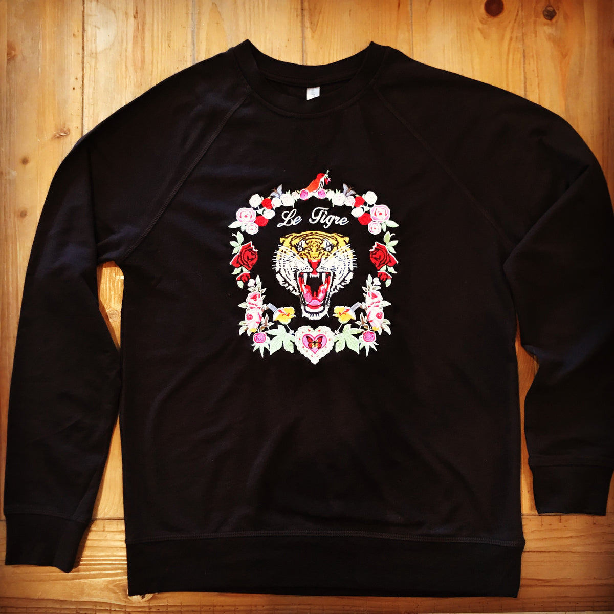 Le Tiger Sweatshirt Black French Terry unisex fit