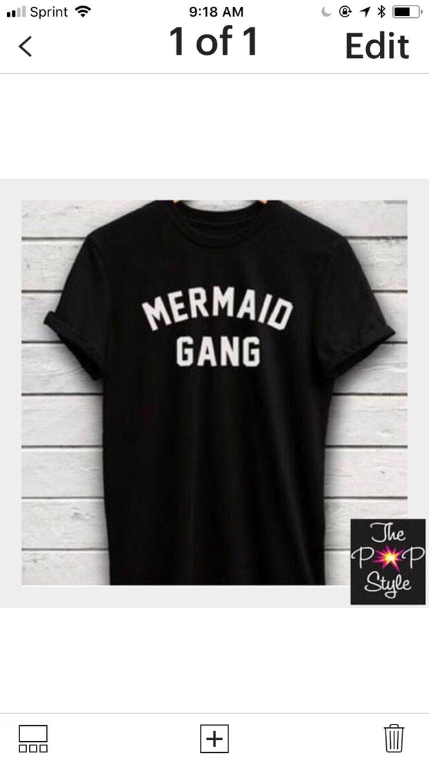 Mermaid Gang T Shirt Beach Girl