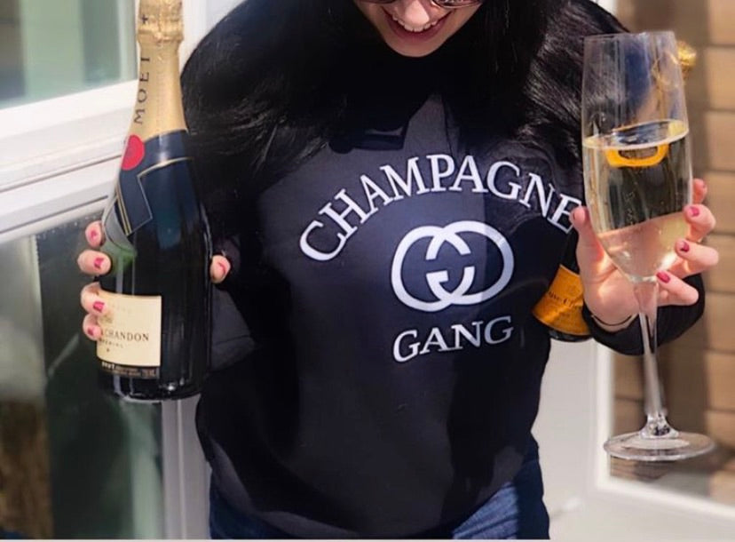 Champagne Gang Sweatshirt, Brunch Shirt, Girls Brunch Shirt, Champers Shirt