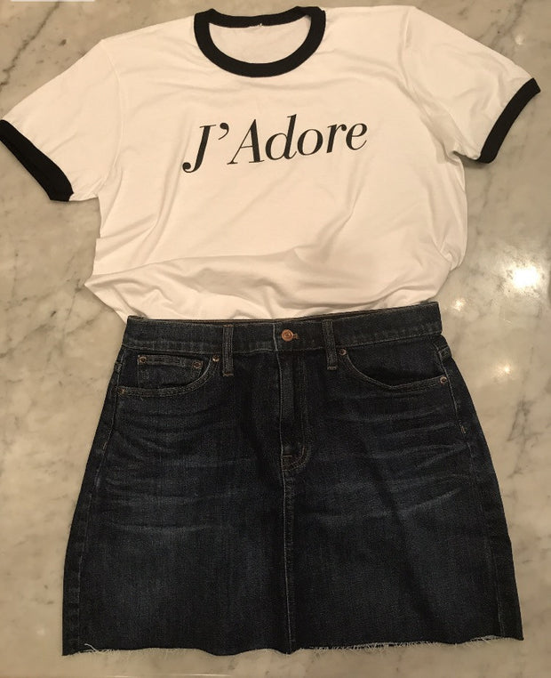 J adore T shirt Love graphic