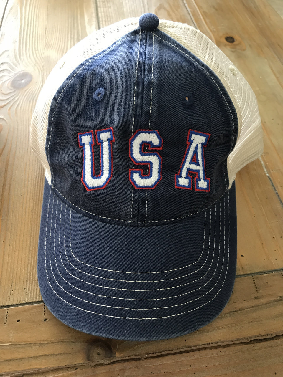 USA Trucker Patriotic Fourth of July Hat Snap back
