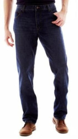 Foundry Supply Co NEW Medium Wash 5-Pocket Big & Tall Relaxed Fit Jeans, 54 x 30 - Swanky Bazaar - 1
