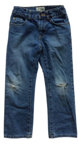 Children's Place NEW Boys Adjustable Waist Straight Destroyed Cotton Jeans Sz 6 - Swanky Bazaar - 1