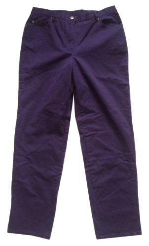 Ruby Rd NEW WITH TAGS Key Item Concord (Purple) Cotton Twill Trouser Pants Sz 6 - Swanky Bazaar