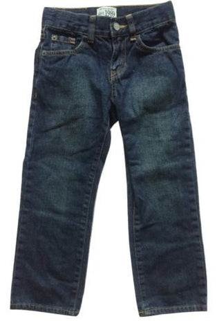 Children's Place NEW Boys Adjustable Waist Straight Leg 100% Cotton Jeans, Sz 5 - Swanky Bazaar - 1