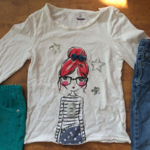 The Children's Place NEW $68 Girl's Tops, Jeans & Pants 4-Pc Lot - Sz Small 5/6 - Swanky Bazaar - 5
