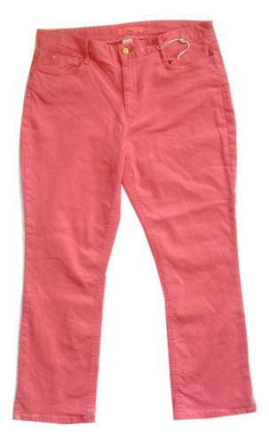 Ivanka Trump NWT Honeysuckle Jada Cotton Blend Mid-Rise Cropped Jeans, Size 16 - Swanky Bazaar - 2