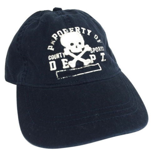 Children's Place NEW Skull & Crossbones Blue Cotton Baseball Cap - L/XL 8+ YR - Swanky Bazaar - 1