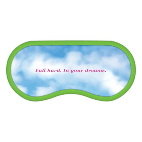 Romantic Comedy Dream Mask NEW Soft Sleep Mask in Snap Closure Plastic Pouch - Swanky Bazaar - 4
