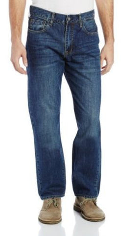 Izod NEW Medium Vintage 5-Pocket Big & Tall Relaxed Fit Cotton Jeans, 58 x 32 - Swanky Bazaar - 1