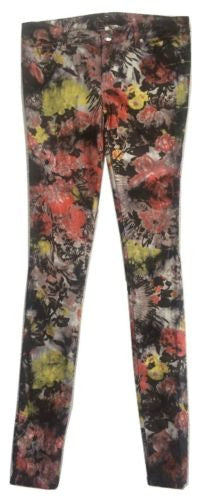 Buffalo David Bitton NEW Floral Cotton Blend Low Rise Skinny Jeans, Size 26 - Swanky Bazaar - 1