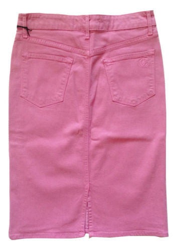 Cj by Cookie Johnson Perfect Pencil Denim Jean Skirt in Pink, Size 26 - Swanky Bazaar - 2