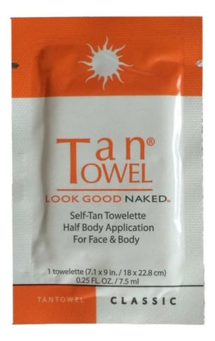 TanTowel Half Body Classic Self-Tan Face & Body 7x9 Towelette .25 fl oz / 7.5 ml - Swanky Bazaar