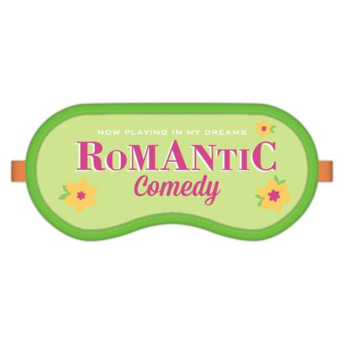 Romantic Comedy Dream Mask NEW Soft Sleep Mask in Snap Closure Plastic Pouch - Swanky Bazaar - 1