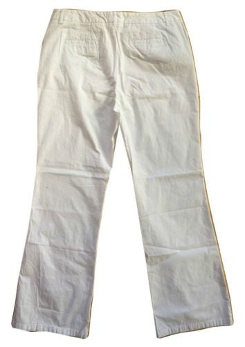 Talbots NEW White Lightweight Cotton Blend Mid-Rise Stretch Pants - Size 16 - Swanky Bazaar - 2