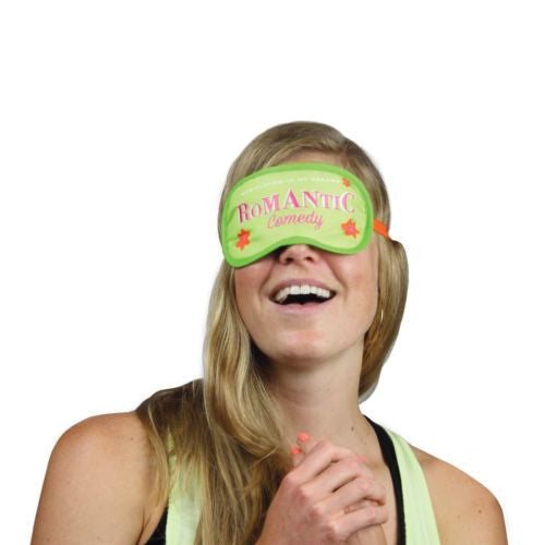 Romantic Comedy Dream Mask NEW Soft Sleep Mask in Snap Closure Plastic Pouch - Swanky Bazaar - 2