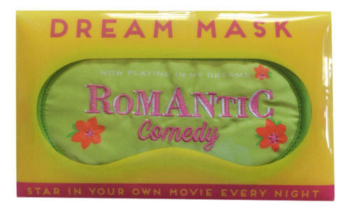 Romantic Comedy Dream Mask NEW Soft Sleep Mask in Snap Closure Plastic Pouch - Swanky Bazaar - 3