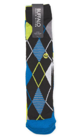 Buffalo David Bitton Black Combo Argyle 3-Pack Fashion Crew Socks Size 10-13 - Swanky Bazaar