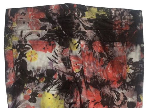 Buffalo David Bitton NEW Floral Cotton Blend Low Rise Skinny Jeans, Size 26 - Swanky Bazaar - 2