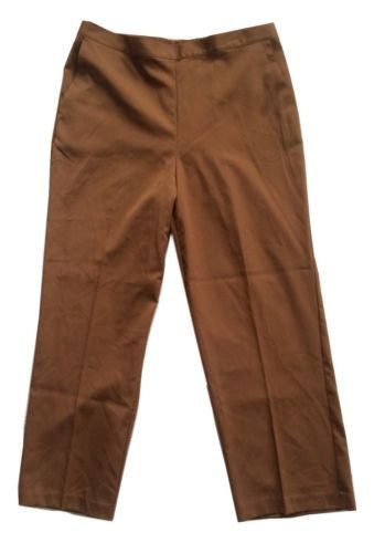 Alfred Dunner Santa Barbara Proportioned Short Pull-On Pants in Mink - Swanky Bazaar