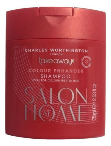 Charles Worthington Salon at Home Takeaways Colour Enhancer Shampoo 75ml - Swanky Bazaar