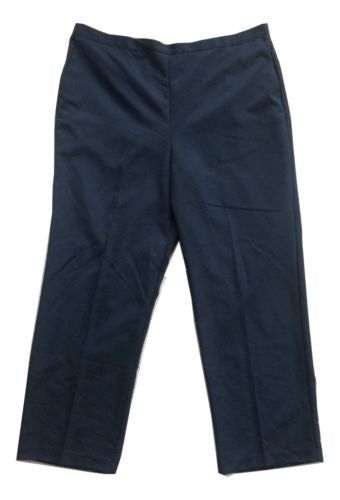 Alfred Dunner Sweet Temptation Proportioned Medium Pull-On Pants in Navy - Swanky Bazaar