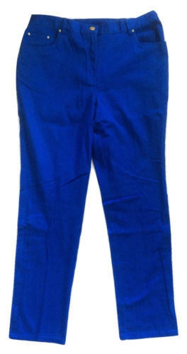 Ruby Rd. NWT Cobalt Sun Kissed Cotton Blend Stretch Fit Mid-Rise Jeans, Size 10 - Swanky Bazaar - 2