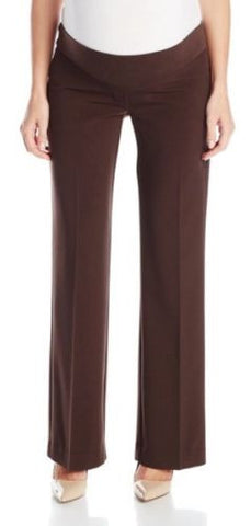 Three Seasons Maternity NWT Style 49020 Brown Dress Pants, Size L - Swanky Bazaar - 1