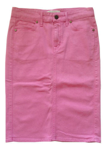 Cj by Cookie Johnson Perfect Pencil Denim Jean Skirt in Pink, Size 26 - Swanky Bazaar - 1