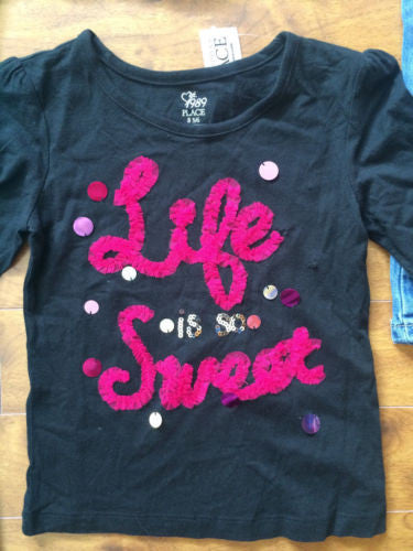 The Children's Place NEW $68 Girl's Tops, Jeans & Pants 4-Pc Lot - Sz Small 5/6 - Swanky Bazaar - 6