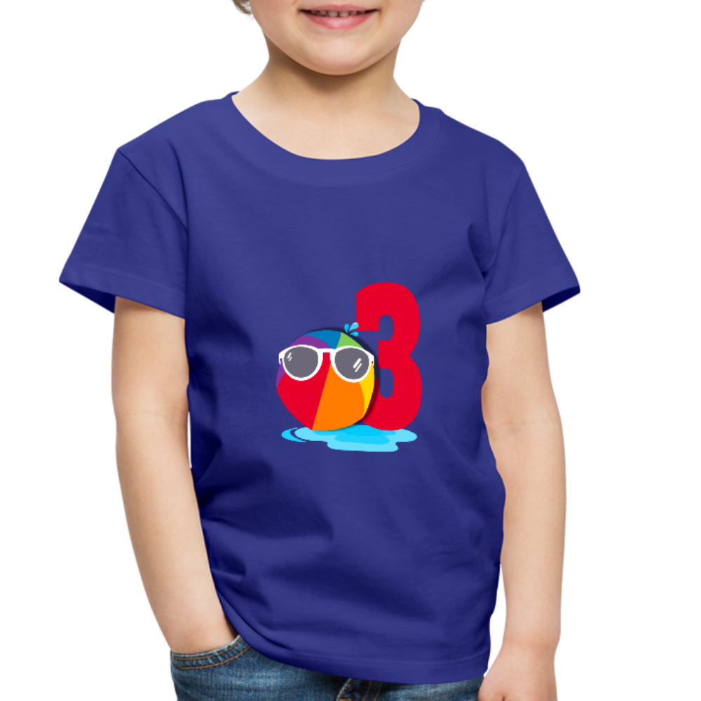 Beach Ball Sunglasses 3rd Birthday Toddler Premium T-Shirt - royal blue