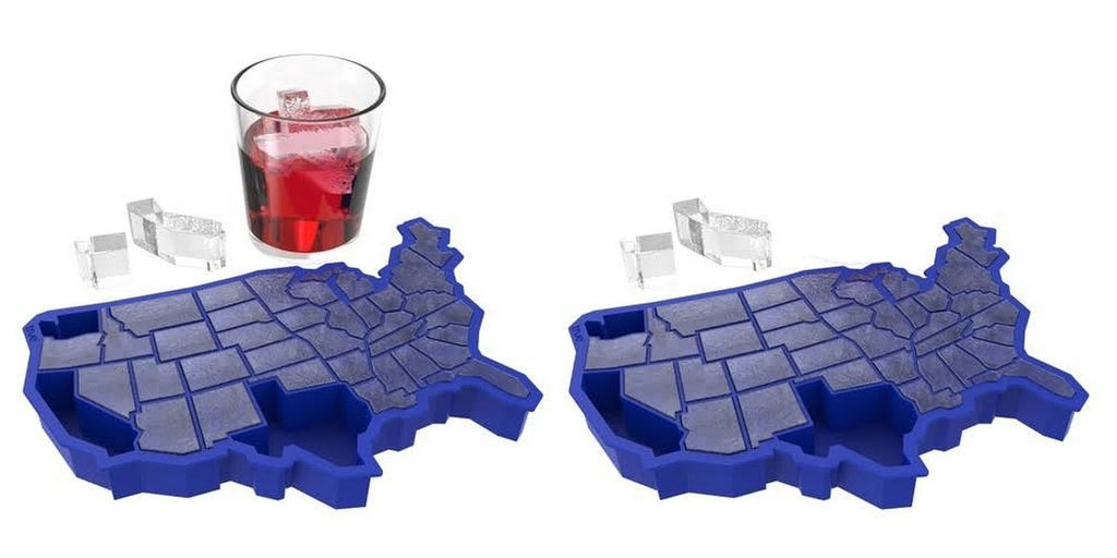 U Ice of A Blue Silicone Ice Cube Tray by TrueZoo - 2 USA Trays