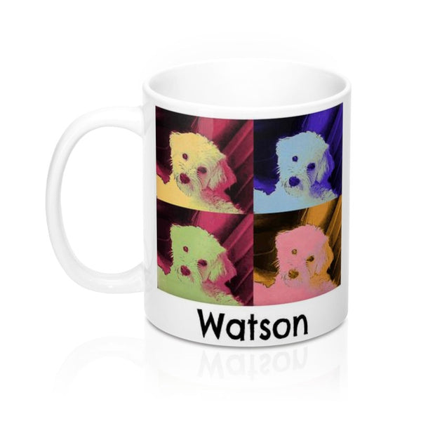 Watson - Custom Havanese Puppy Dog Pop Art Pet Coffee Mug in 11 or 15 oz.