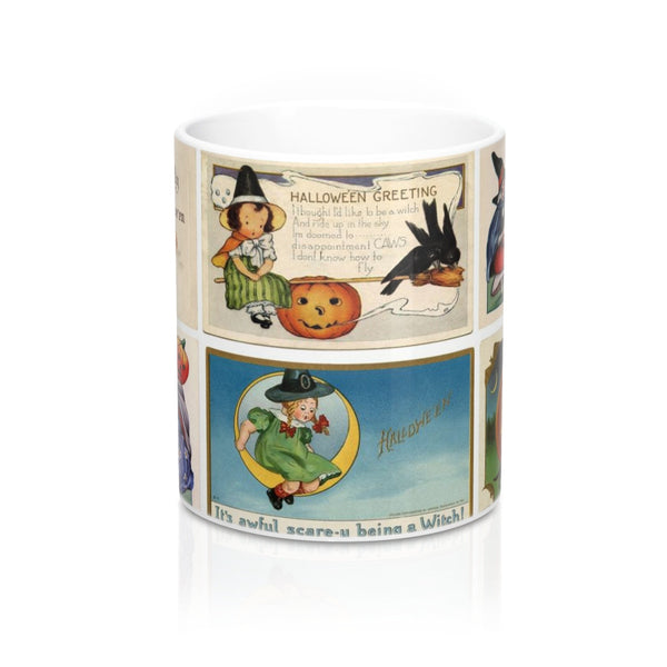 Vintage Halloween Witch Postcards Graphic Coffee Mug 11 or 15 oz (#1)