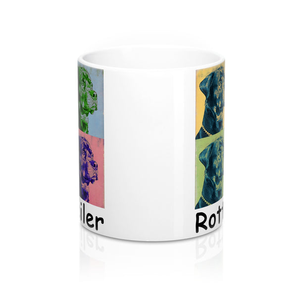 Rottweiler Puppy Dog Pop Art Coffee Mug