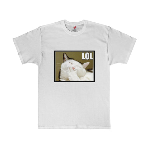 LOL Fat Cat Meme Graphic Tee T-Shirt 5 Colors Size S-5XL