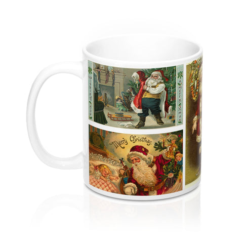Vintage Santa Claus Christmas Postcards Design 11 or 15 oz Coffee Mug